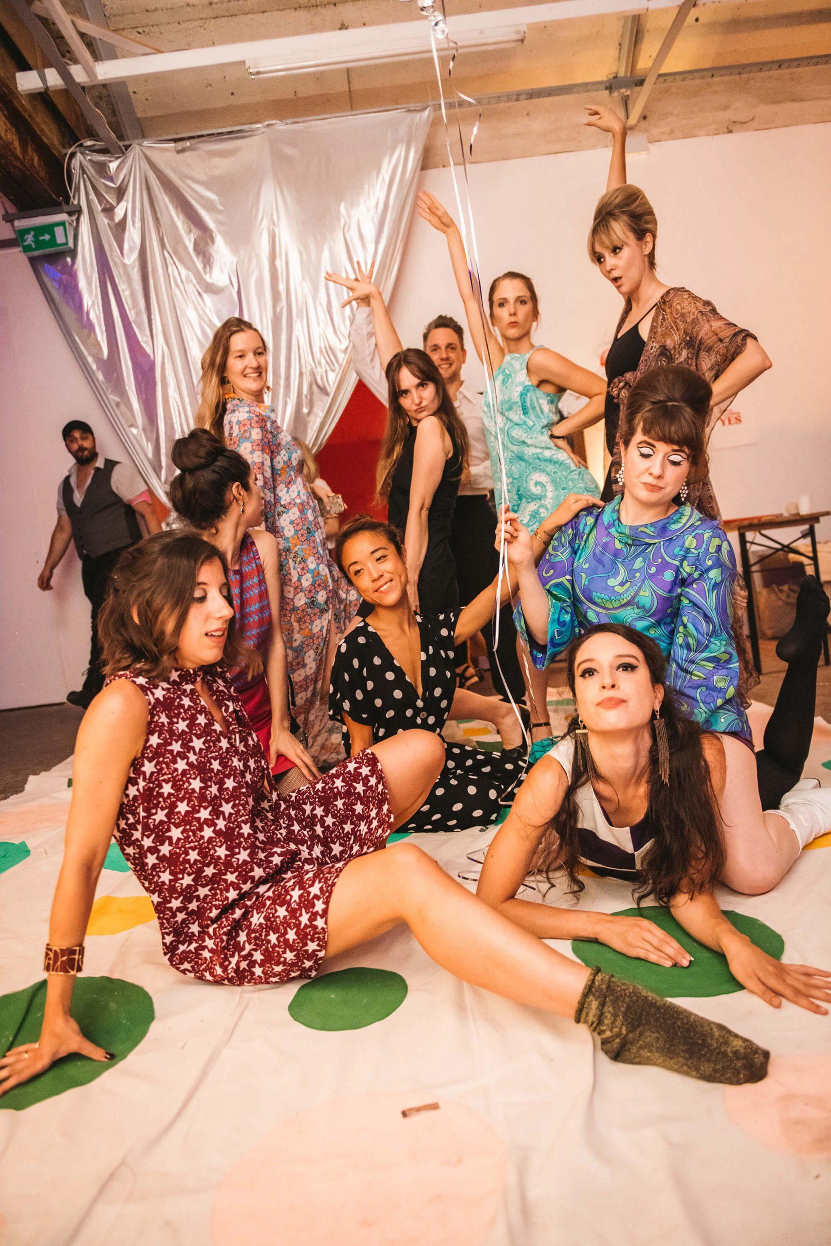 Women playing Twister at City Nights